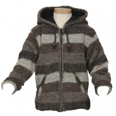 Chaqueta 12meses lana gris