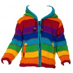 Veste laine enfant arcenciel 2ans