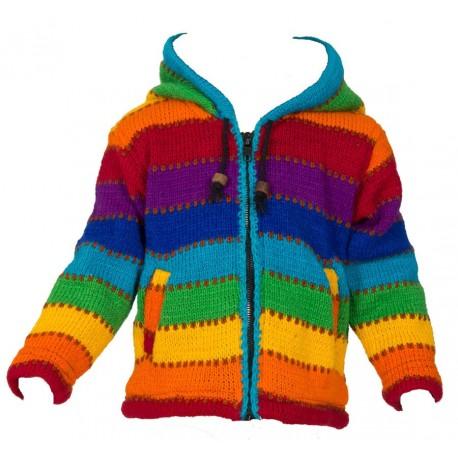 3years rainbow wool jacket