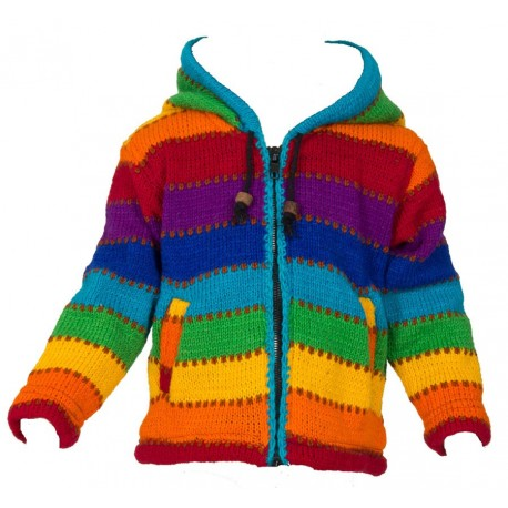 6years rainbow wool jacket