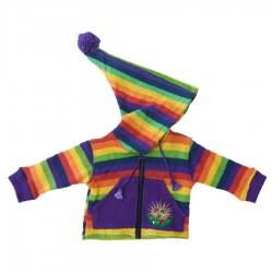 Chaqueta capucha puntiaguda arco iris 18meses
