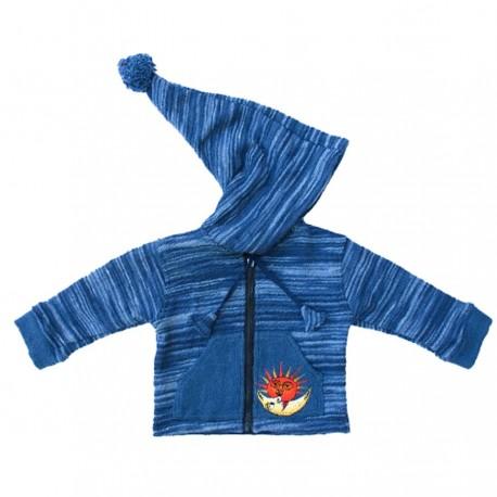 Blue sharp hood jacket 12months