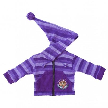 Mauve sharp hood jacket 12months