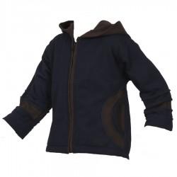 Chaqueta jersey algodon forrado azul negro y marron    12meses