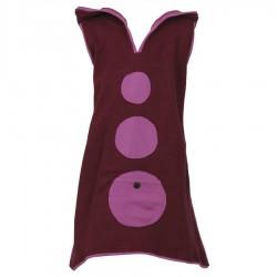 Vestido tunica capucha diablillo violeta 6meses