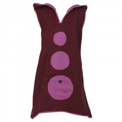 Purple sprite hood tunic dress 6years
