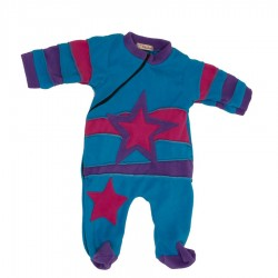 Ethnic polar pyjama turquoise and purple 3months