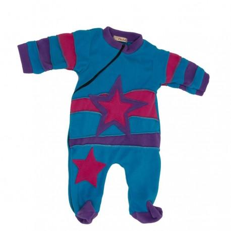 Ethnic polar pyjama turquoise and purple 3months