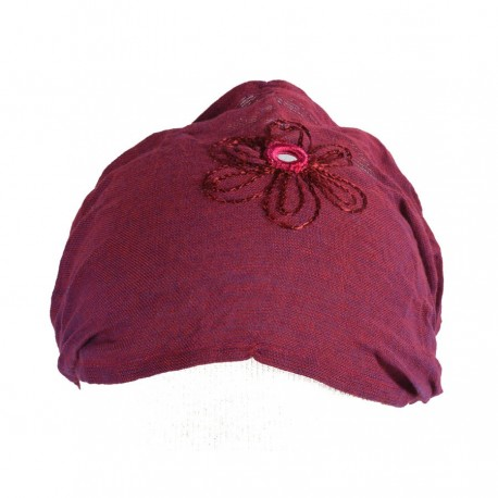 Hairband kid baby girl woman embroidered plain violet