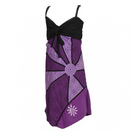 Robe tunique fillette violette