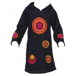 Dark blue sharp hood psychedelic dress