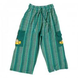 Pantalon rayé Népal vert 3 mois