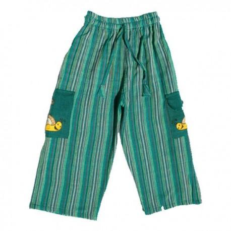 Green stripe trouser     3months