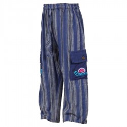 Stripe trousers hippy dark blue