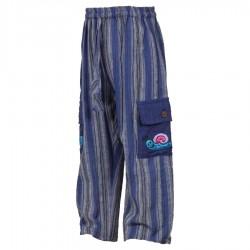 Stripe trousers hippy dark blue