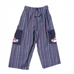 Blue stripe trouser     6months