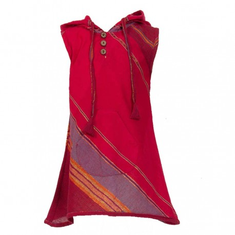 Red indian dress sharp hood   10years