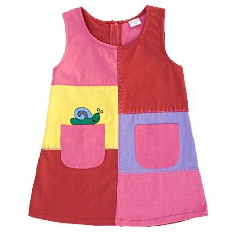 Mauve patchwork trapeze dress   4years