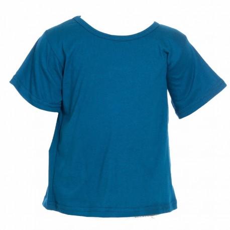 Camiseta etnica ninos azul petroleo