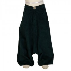 Ethnic afghan trousers winter velvet petrol blue    12months