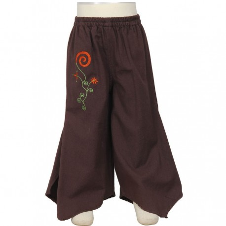 Skirt trousers ethnic brown