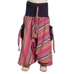 Pantalon afgano indio rayado morado