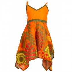 Robe indienne babacool orange
