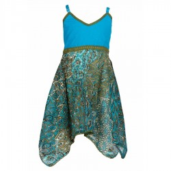 Robe indienne coton turquoise