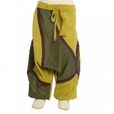 Pantalon afgano etnico verde limon   18meses