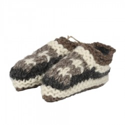 Baby slippers wool lined polar grey