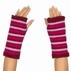 Mitaines fille laine violette