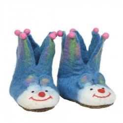 Felt kids slippers orange jocker