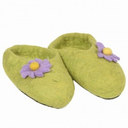 Chausson fille enfant vert anis