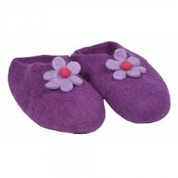 Chaussons feutrine Népal violet