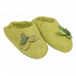 Chaussons Népal fille vert anis