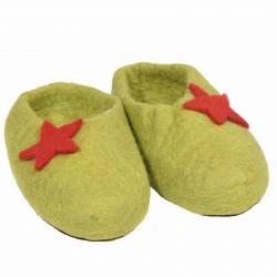 Felt dragon slippers
