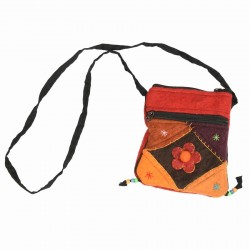 Sac multicolore feutrine rouge