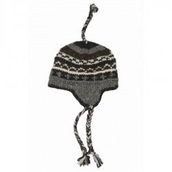 Bonnet laine noir et blanc 2-3 ans