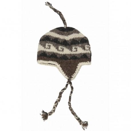 Kid cap peruvian wool lined polar grey 6-12months R03