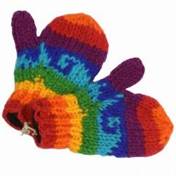 Moufles laine enfant rainbow