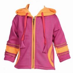 Veste fille ethnique violette et orange