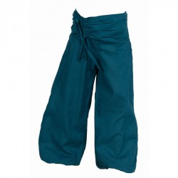 Pantalon népalais enfant uni bleu pétrole