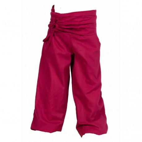 Pantalon ethnique bouffant uni violet