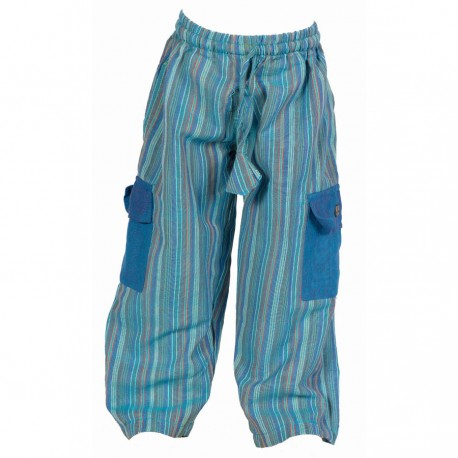 Pantalon enfant babacool bleu turquoise