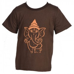 Tee-shirt enfant baba cool marron