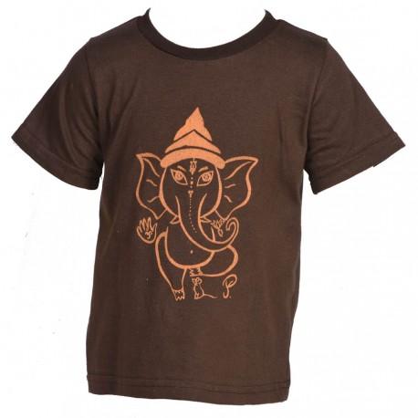 Tee-shirt enfant baba cool marron