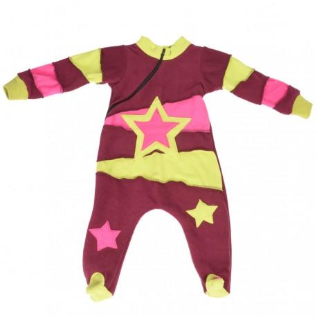 Surpyjama bébé ethnique violet