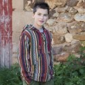 Ethnic pea jacket