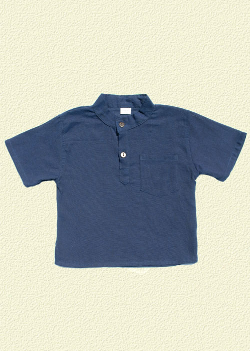 Camisa unida azul