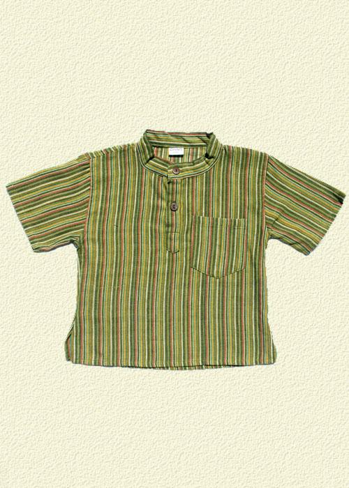Camisa rayada caqui
